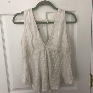 white free people blouse/tank